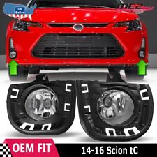 For 14-15 Scion tC Winjet OE Direct Factory Fit Fog Light Bumper Kit Clear Lens