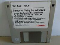 "ITHistory (1994) IBM Software: COMPAQ Windows 3.1 Supplemental 3.5"" No Manual"