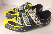 Northwave Road Bike Cycling Shoes 3 Bolt 3 Strap Euro 38/39 Grey Yellow Black