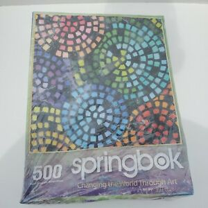 """Springbok Puzzle """"Changing the world throughart"""" Jigsaw 500 pieces Box Damaged"""