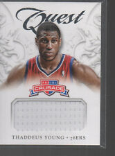 THADDEUS YOUNG   2012-13 PANINI CRUSADE QUEST JERSEY CARD #58
