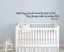 Peter Pan Inspired Little Boys Always Wake up a Day Older Vinyl Wall Decal Stick