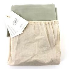 Restoration Hardware Garment Dyed Sateen Eucalyptus Twin Bed Skirt Bedskirt