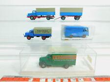 bn126-0,5 #4x BREKINA H0/1:87 Autocarro: 34501 FIAT + 4302 BORGWARD + IFA ,NUOVO