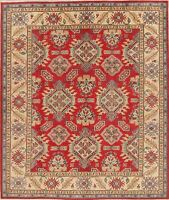 Super Kazak Geometric Oriental Area Rug Wool Hand-Knotted All-Over Carpet 8x10