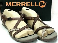 MERRELL Women's Sandals size 8M Brown Leather Beachcomber NIB