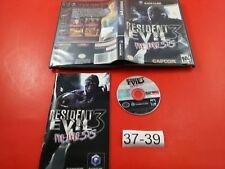 Resident Evil 3 Nemesis [Complete CIB, Black LAbel] (Nintendo Gamecube) Working
