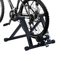 New Foldable Indoor Bicycle Bike Turbo Trainer Fan Fly Wind Wheel Quiet Black