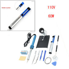 14in1 60W 110V SMD Electric Soldering Tools Kit w/ Iron Stand Desoldering Pump