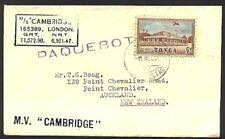 TONGA 1957 ship cover CURACAO Paquebot - nusual use........................99172