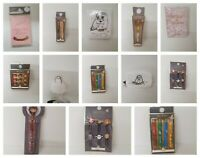 Harry Potter 4 House Pens/Pack Of 2/10 Color Pen/Paper Clip/Push Pin NEW Primark