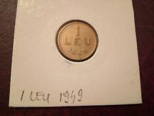 ROMANIA - 1 LEU 1949 - COINS