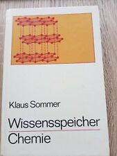 Wissensspeicher Chemie Klaus Sommer DDR Volk und Wissen 1982