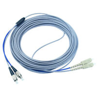 20M Armored MM Duplex Fiber Optic Patch Cord 62.5/125  SC to FC UPC Fiber Cable