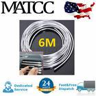 20FT Chrome Silver Moulding Trim Strip Car Door Edge Scratch Guard Protectors US