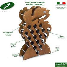 Cantinetta GRAPPOLO noce portabottiglie vino in legno mobile porta bottiglie