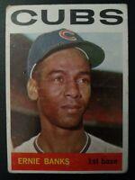 1964 Topps #55 Ernie Banks ⚾ Chicago Cubs ⚾ ORIGINAL VINTAGE ⚾