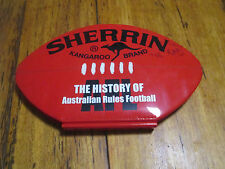 The history of Australian Rules Football AFL VFL Red vinyl book Ron Barassi Hird