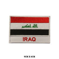 IRAQ National Flag Embroidered Patch Iron on Sew On Badge For Clothe etc