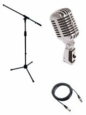 Shure*55SH*55-SH Microphone Bundle with Mic Boom Stand + XLR Cable FREE SHIP NEW