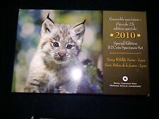 2010 Canada Young Wildlife Series Lynx Specimen Set Special Edition - Box & COA