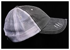 Baseball Cap Mesh Fashion Trucker Distressed Hat Denim Trucker Vintage Ball Cap