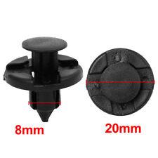 8mm Hole Push Pin Rivet Clips Car Body Fender Bumper Fastener Container Clip 10x