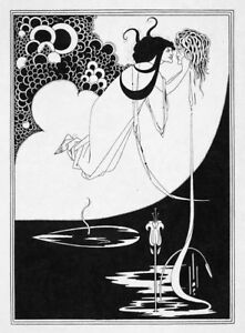 "Salome-plate-15 by Aubrey Beardsley   20"" Paper Print  Repro"
