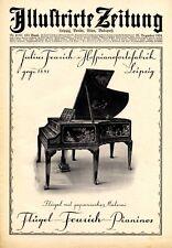 Feurich Flügel Leipzig Reklame 1924 Titelseite Klavier Werbung
