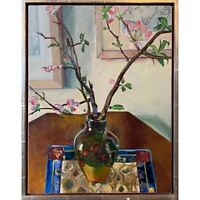 Anne Abrons - Still Life with Flowering Quince (1987, Oil on Canvas)
