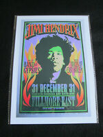 JIMI HENDRIX & THE BAND OF GYPSIES :FILMORE EAST1969  : A4  REPO POSTER