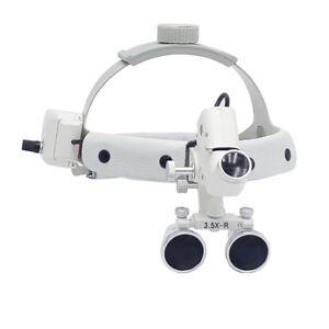 3.5X-R Dental Surgical Headband Binocular Loupes & LED Head Light Headlight SALE