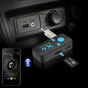 ADATTATORE BLUETOOTH 4.1+EDR RICEVITORE Auto AUX Wireless Audio VIVAVOCE TF CARD