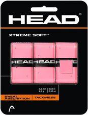 3 Head Xtremesoft Overgrip Grip/- Rosa-Gratis P&P