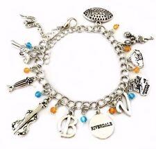 Riverdale TV Series 11 Themed Charms Silvertone Charm Bracelet