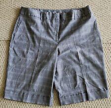 NEW STUDIO 1940 gray plaid checkered Bermuda walking shorts (20W) cuffed leg