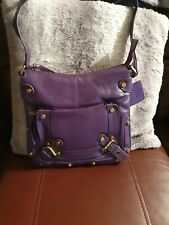 Tommy & Kate, Purple Leather Shoulder Bag. New With Tags.