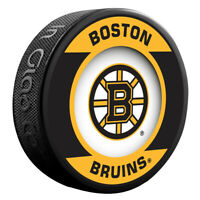 Boston Bruins NHL Team Logo Retro Souvenir Hockey Puck