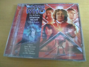Big Finish CD Doctor Who, Situation Vacant Paul McGann, NEW SEALED
