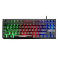 ZIYOU LANG K16 87 Key USB Wired Mechanical Feel 7 Backlight Gaming Keyboard Game
