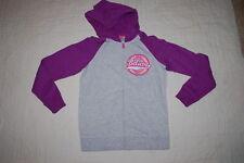 Girls Gray Purple Fleece Sweat Jacket Hooded Dream Believe Achieve Xs 4-5