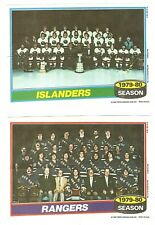1980-81 Topps Hockey Team Photo Mini Poster Pinups Complete Set of 16 Mint