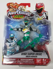 "Bandai Power Rangers Dino Super Charge DRIVE GREEN RANGER 5"" Scale Figure 2016"
