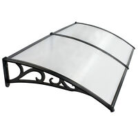 """40"""" x 80"""" Outdoor Polycarbonate Front Door Window Awning Patio Cover Canopy"""