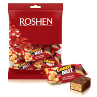 """Ukrainian Sweets ROSHEN Chocolate """"Candy Nut"""" Caramel with Peanuts 160 g /5.6 oz"""