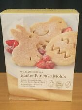 Williams-Sonoma Easter Pancake Crêpe Set Of 3 Silicone Molds Bunny Chick Egg