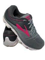 Brooks Womens Anthem Grey/Ebony/Pink Running Shoes Size 9.5 (1134735)