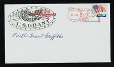 Edith Grant Griffiths (d 1995) signed autograph Cover U.S. Grant's Granddaughter