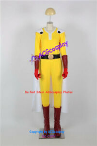Saitama Cosplay Costume include faux leather made boots covers and gloves