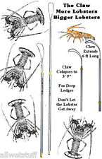 LOBSTER CLAW 6' Extendable TICKLE STICK catch snare Dr deep reef Green Season FL